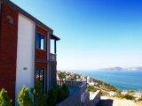 Bodrum sea view detached villa with access to private beach,brand-new