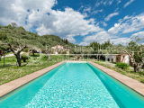 Charming sea view villa with swimming pool for sale in the Versilia hills, Tuscany