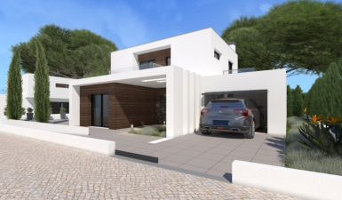 Contemporary townhouse T3 Duplex, near the Bay of São Martinho Do Porto, in private condominium.