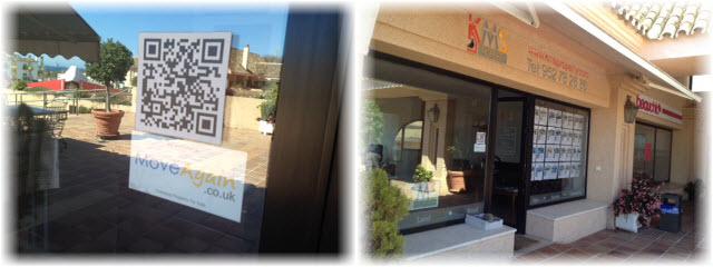 MoveAgain Estate Agent Window Sticker